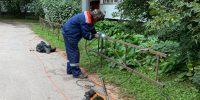Серебристый б р д.22 корп.3 установка газонных ограждений